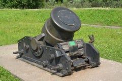 mortaio del servo 334-millimetro XIX del secolo (un campione di 1838) Immagini Stock