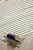 Mortaio di bianco delle mattonelle di ceramica Fotografia Stock