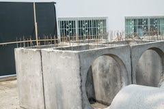 Mortaio di fossa o tubi del cemento Fotografie Stock Libere da Diritti
