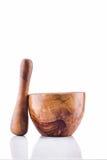 Mortaio di legno fotografia stock libera da diritti