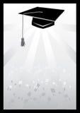 Mortaio nella graduazione nel grey Fotografia Stock