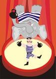 Mortal stunt. Jocular vector illustration Stock Image