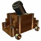 Mortar. 3D Render of a Mortar Royalty Free Stock Photo