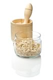 Mortar And Jar With Cereal Stock Photography