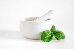 Mortar and basil Royalty Free Stock Images