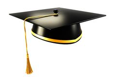 Mortar Board. 3d image of mortar board against white background Stock Image