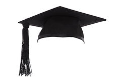 Mortar Board Graduation Cap isolated on white. Mortar Board or Graduation Cap isolated on a white background royalty free stock image