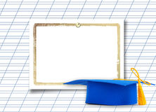 Mortar board or graduation cap Stock Image