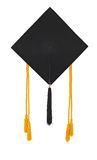 Mortar Board and Honor Cords. Mortar board with tassel and honor cords on white background royalty free stock photos