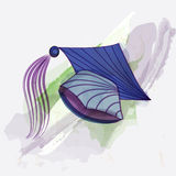 Mortar board in water colors. Mortar board in water color painting style Stock Image