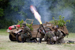 Mortar fire Stock Photography