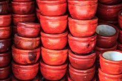 Mortar made of wood Stock Photos