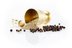 Mortar and pepper Royalty Free Stock Photography