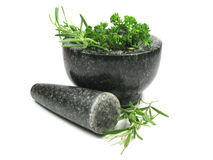 Mortar and pestil Stock Photos