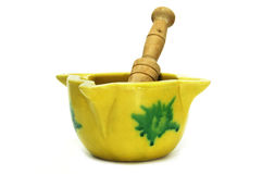 Mortar and pestle. A kitchen mortar and pestle typical of Spain Stock Photo
