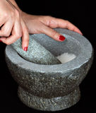 Mortar and Pestle. A Mortar and a Pestle Royalty Free Stock Photo