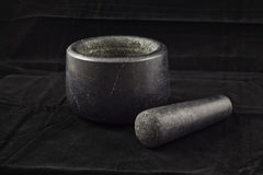 Mortar and pestle. Stock Photo