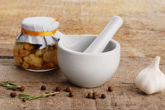 Mortar and pestle Stock Images
