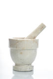 Mortar and Pestle. Marble mortar and pestle royalty free stock photography