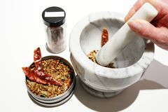Mortar and pestle Royalty Free Stock Images