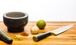 Mortar and Pestle Custom Spices Royalty Free Stock Images