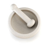 Mortar and pestle. 3d. Stock Image