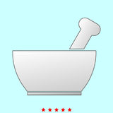 Mortar and pestle  it is icon . Royalty Free Stock Images