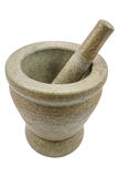 Mortar and pestle isolated on white background Stock Images