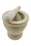 Mortar and pestle isolated on white background Royalty Free Stock Photos