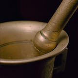 Mortar and Pestle Macro Stock Images