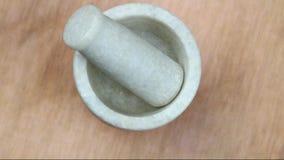 Mortar pestle stock footage