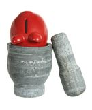 Mortar with Piggy Bank Royalty Free Stock Images