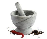 Mortar and red pepper Stock Image