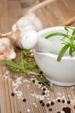 Mortar With Rosemary Royalty Free Stock Image