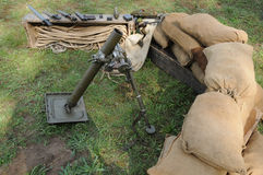 Mortar of the second world war Royalty Free Stock Image