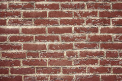 Mortar  Smears Brick Wall Stock Photo