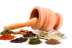 Mortar and spices Stock Photo