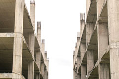 Mortar structure , Pillar and beam structure Of the building stock photo