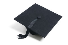 Mortarboard. On Isolated White Background Stock Photo