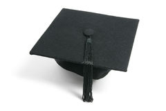 Mortarboard. On Isolated White Background Royalty Free Stock Photo