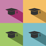 Mortarboard icon for graduate Stock Images