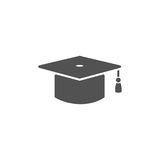 Mortarboard icon for graduate Royalty Free Stock Images