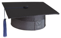 Mortarboard on white background Stock Photos