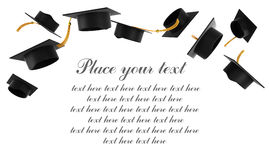 Mortarboard on white background Royalty Free Stock Photos