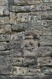 Mortarless-Stein-Block-Wand Stockfotos