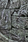 Mortarless-Stein-Block-Wand Stockfoto