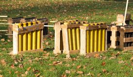 Mortars for fireworks Stock Image