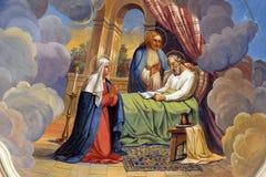 A morte de St Joseph fotografia de stock