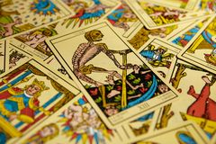 Morte de Tarot Fotos de Stock Royalty Free