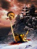 Morte del samurai Immagini Stock
